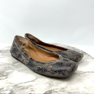 Lucky Brand Santana distressed leather ballet flat